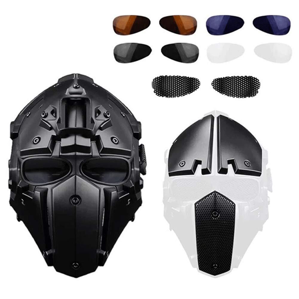 モーター保護のオートバイの旅行戦術的な軍事訓練のフルフェイスのヘルメット (Color Black : Black 黄) B07HNZ36J6 Black : Black, 雑貨ギャラリーbe.:421e8ee2 --- kutter.pl