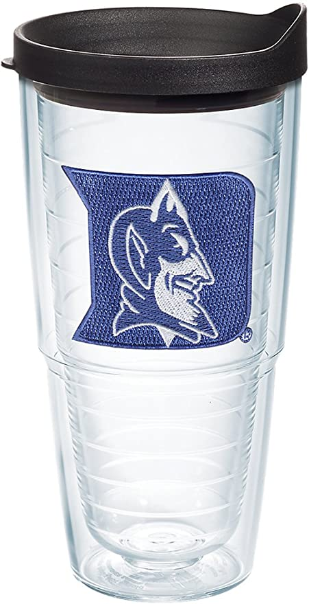 ff62a97db Amazon.com: Tervis 1060861 Duke Blue Devils Logo Tumbler with Emblem and  Black Lid 24oz, Clear: Kitchen & Dining
