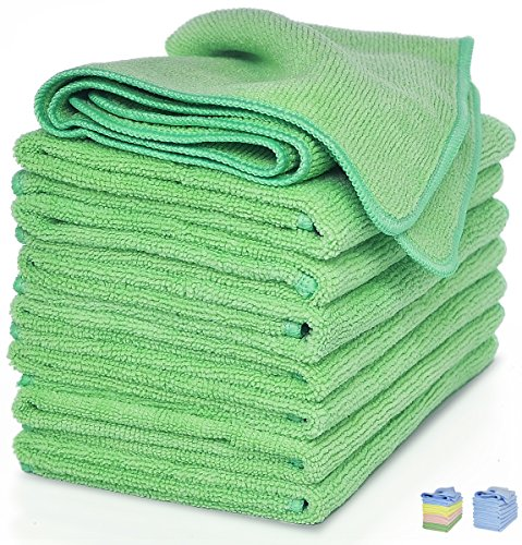 Vibrawipe Microfiber Cloth, Green (Pack of 8)