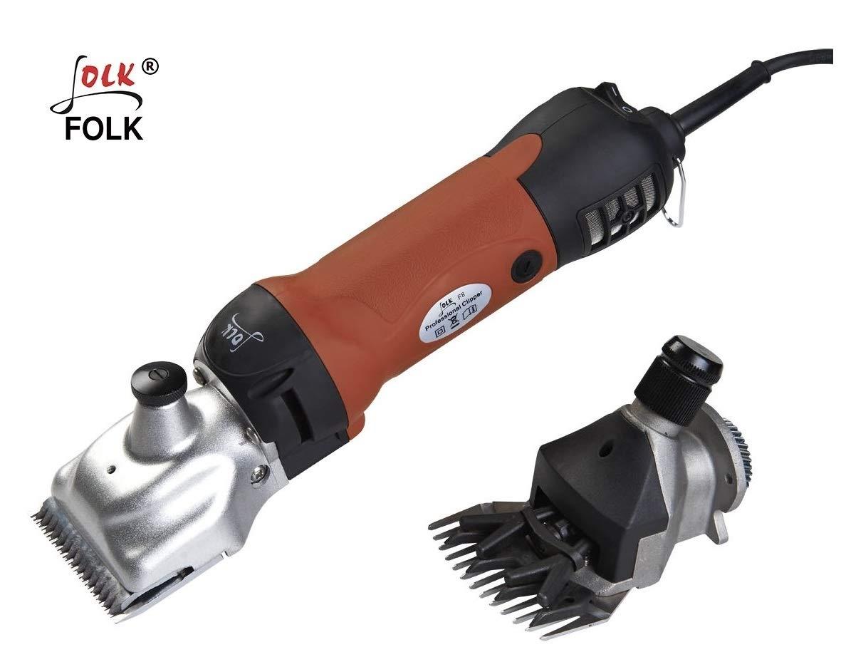 vendita online Folk Tosatrice 500 W 2 in 1 doppio testa testa testa pecore e cavalli, Tagliacapelli tosatrice lana  negozio d'offerta