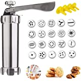 Cookie Press Maker Kit- Making Cake Decorating Tools Multiple-Type Molds for DIY Biscuit Maker and Decoration with 20…
