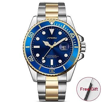 b64df4e0c71 SINOBI Casual Men Watch Waterproof Date Stainless Steel Band Luxury Mans  Sports Quartz Watches relogio Masculino