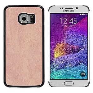 TopCaseStore / la caja del caucho duro de la cubierta de protección de la piel - Texture Pink Vintage - Samsung Galaxy S6 EDGE SM-G925