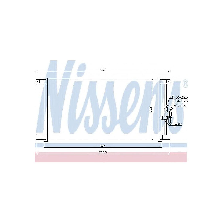Nissens 94798 Condenser, air conditioning AutoMotion Factors Limited