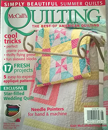 McCALL'S QUILTING Magazine August 2009 Volume 16 No. 4 (Beautiful Patterns For Your Home, quilts, patterns, designs, 6 cool star designs, how to do kaleido-cutting, ribbon loop edging, 15 patterns, free motion quilting) - Mccalls Free Quilt Patterns
