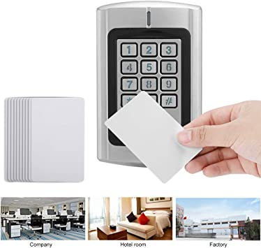 13.56Mhz Password RFID Card Reader Door Access Control Wiegand Interface Keypad System ID//IC Card for Home//Office Secure System