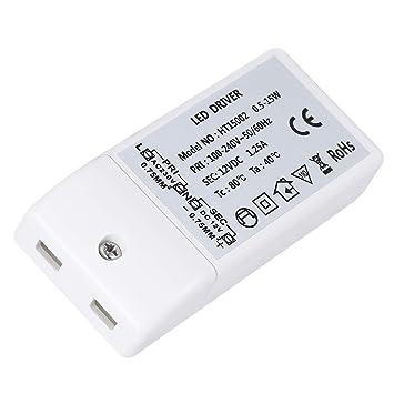 LEORX LED transformador DC 12V 15W LED Drive luz fuente transformador controlador de iluminación para lámpara MR16 de G4