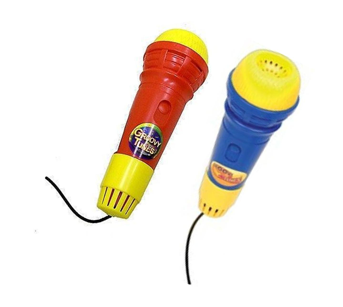 Groovy Tunes Echo Microphone (2 No. - 1 Blue, 1 Red) by HTI