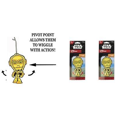 C3PO Star Wars Wiggler 1 Pack air freshener Vanilla x 2 Packs: Automotive