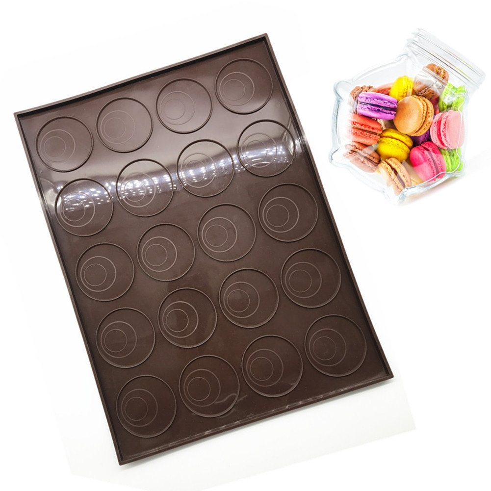 Silicone Baking Mat & Baking tray, Professional 20 Capacity Non stick Macaron Cakes Mould Trays Bakeware - Suitable for Pastry / Cookie / Bread Making Kin Kitchen