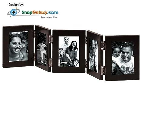 buy snapgalaxy multiple folding photo frames 5x7 black booklet