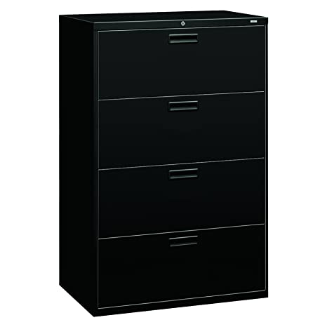 on sale 3657a 3e865 HON 4-Drawer Office Filing Cabinet - 500 Series Lateral File Cabinet,  19.25