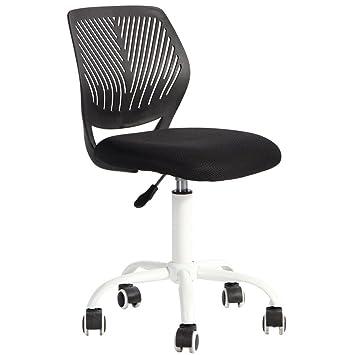 Silla de escritorio Fanilife, ajustable y giratoria sin brazos de diseño, para niños, silla para el ordenador, para los deberes, para estudiar, color ...