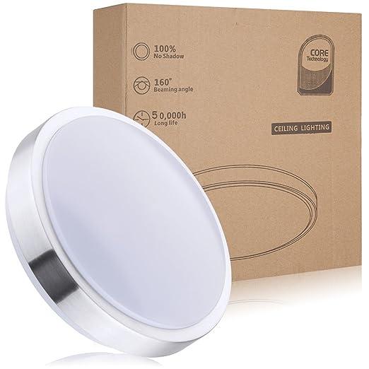 Deckenleuchte Bad,LED Deckenlampe,12W ,1050 lm,Ø 26cm Kaltweiß ...