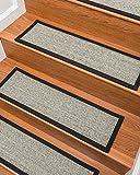 NaturalAreaRugs Gardner Sisal Carpet Stair Treads Set of 13 9' x 29' ft