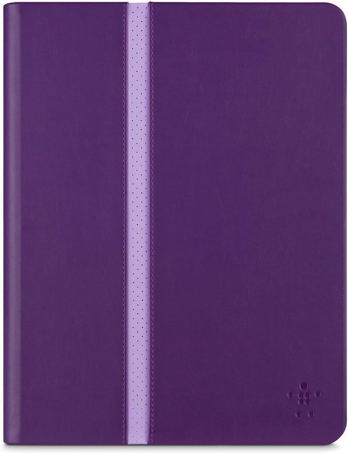 Belkin F7N252b1C01 Cubierta para iPad Air 2 y iPad Air, Morado, Plum Stripe