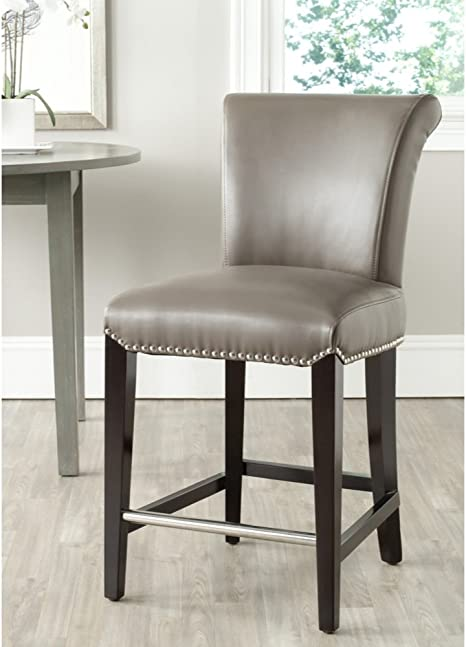 Safavieh Mercer Collection Seth Clay Leather 23 5 Inch Counter Stool Furniture Decor