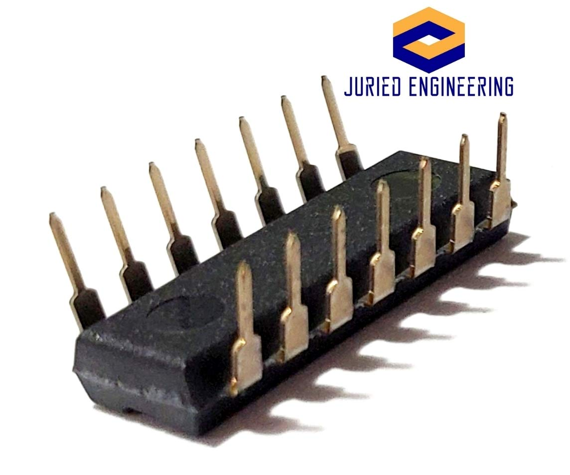Juried Engineering CD4073BE CD4073 4073 CMOS Triple 3-Input and Gate Breadboard-Friendly IC DIP-14 Pack of 5