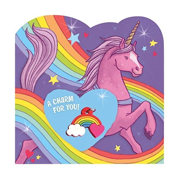 Peaceable Kingdom Rainbow Charm Unicorn Valentines - 28 Card and Envelope Pack 6