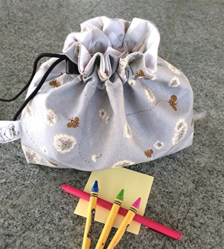 Reusable Drawstring Ditty Bag Sewing or Craft pouch, Small toy bag, Fabric Ditty Pouch, Travel Organizer from Cape Cod Sewing Creations