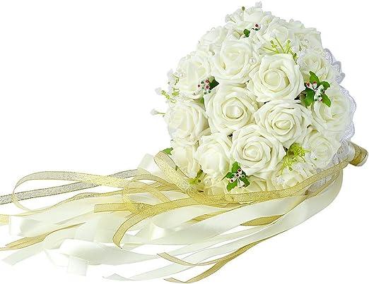 Amazon Com Febou Wedding Bridal Bouquet Wedding Bride Bouquet