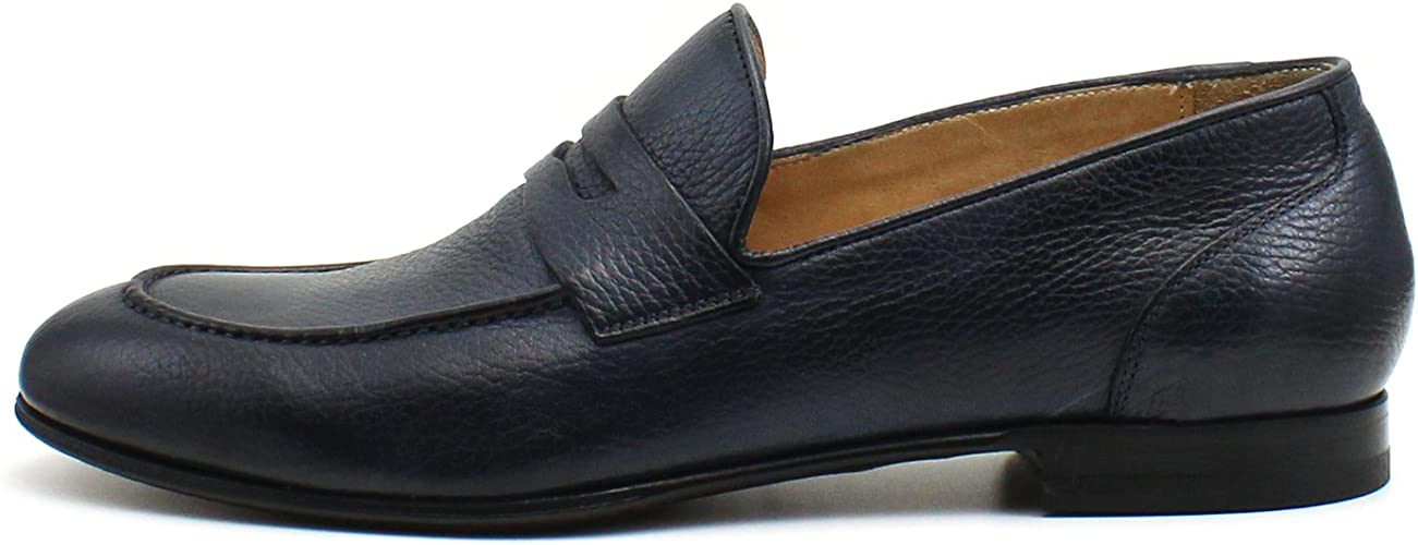 lägre pris med spara upp till 80% bäst giltig Amazon.com   Giorgio Rea Italian Handmade Navy Blue Penny Loafers ...