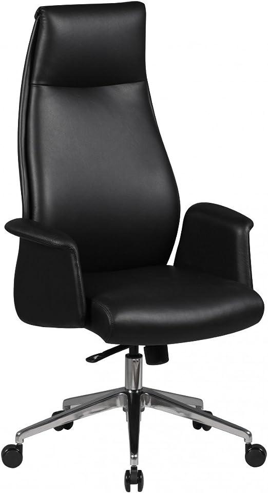 AMSTYLE Bürostuhl FRANKLIN Echt Leder Schwarz Schreibtischstuhl ergonomisch 120 kg X XL Chefsessel verstellbar mit Kopfstütze Drehstuhl hoch