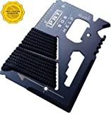 Survival Multi Tool - RumbaDock Survival Gear Tools 14-1 Credit Card Multitool- Best SAS Survival Kit Multi-tool- Ideal for Fishing Survival Kit Multitool: Lifetime Warranty, Black