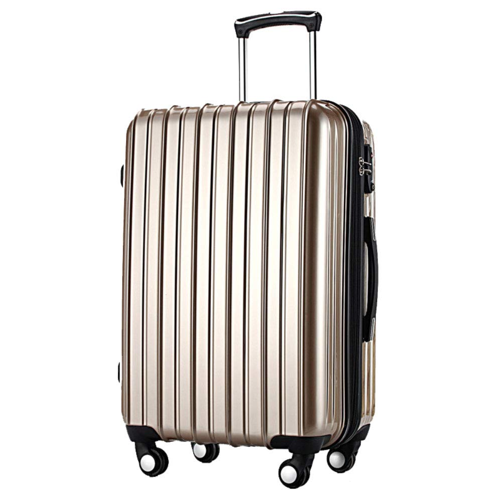トロリー箱の男女兼用のスーツケースの普遍的な航空機の車輪の荷物の搭乗箱 (Color : シャンパンゴールド しゃんぱんご゜るど, Size : 24 inches)   B07RD3B37Q