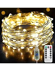 Copper Wire USB Powered String Fairy Lights, Twinkle Waterproof Lights Remoted and Powered with 8 Modes for Tree Wedding Party Indoor Bedroom Garden Christmas Decoration