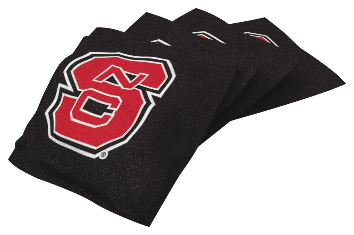 Wild Sports NCAA College North Carolina State Wolfpack Black Authentic Cornhole Bean Bag Set (4 Pack)