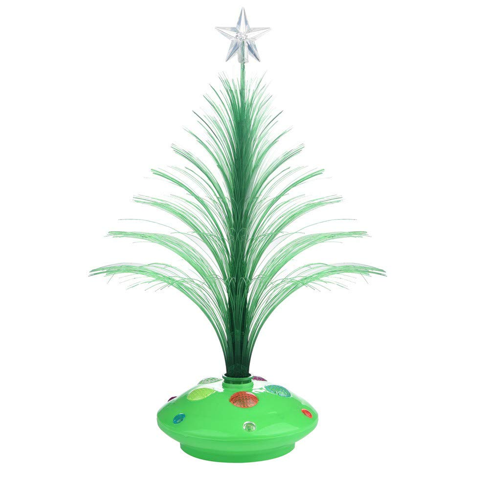 Christmas Decoration Lamp,Merry LED Colorful Mini Xmas Tree Home Table Party Charm Decor (Green)