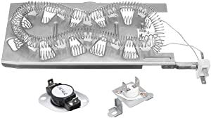 Ximoon 3387747 Dryer Heating Element & 279973 Thermal Cut-Off Fuse Thermostat Kit Replacement for Whirlpool & Kenmore Dryers
