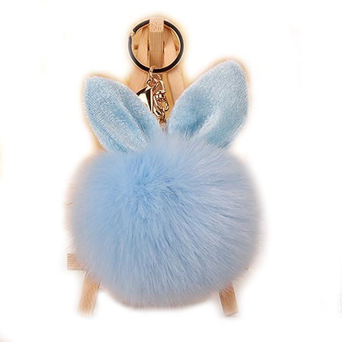 Ehrlich Taschenanhänger Schlüsselanhänger Hase Rosa Feine Verarbeitung Kleidung & Accessoires