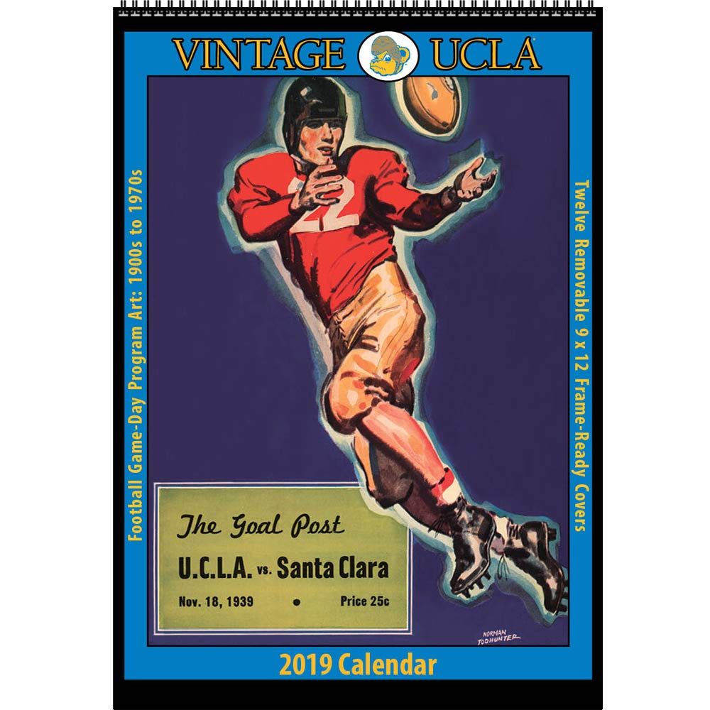 Ucla Calendar.Amazon Com Vintage Ucla Bruins 2019 College Football Calendar