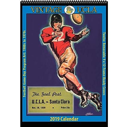 2019 Ucla Calendar Amazon.: Vintage UCLA Bruins 2019 College Football Calendar