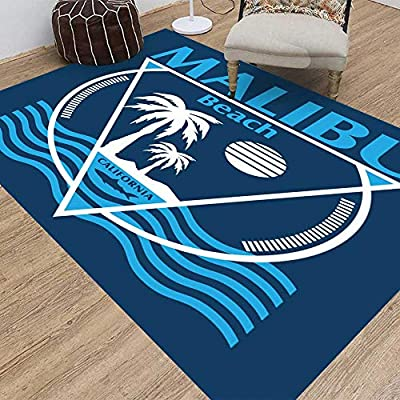 Amazon Com Soauty Rug Classroom Living Room Soft Non Slip Shag Indoor Outdoor Area Rugs Beach Typography Graphics Surf Tshirt Vectors 5x7 Living Room Area Rug Bedroom Kindergarten Dining Room Kitchen Dining