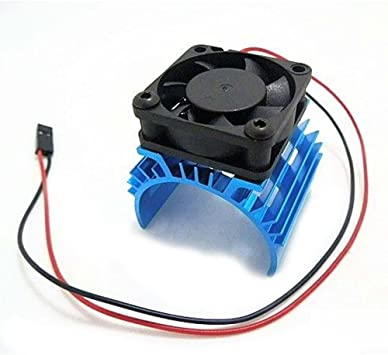 TOOGOO Disipador de calor metalico con ventilador de enfriamiento de 5V para 1/10 RC Coche 540 550 3650 Tamano Motor: Amazon.es: Juguetes y juegos