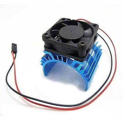 SODIAL Disipador de calor metalico con ventilador de enfriamiento de 5V para 1/10 RC