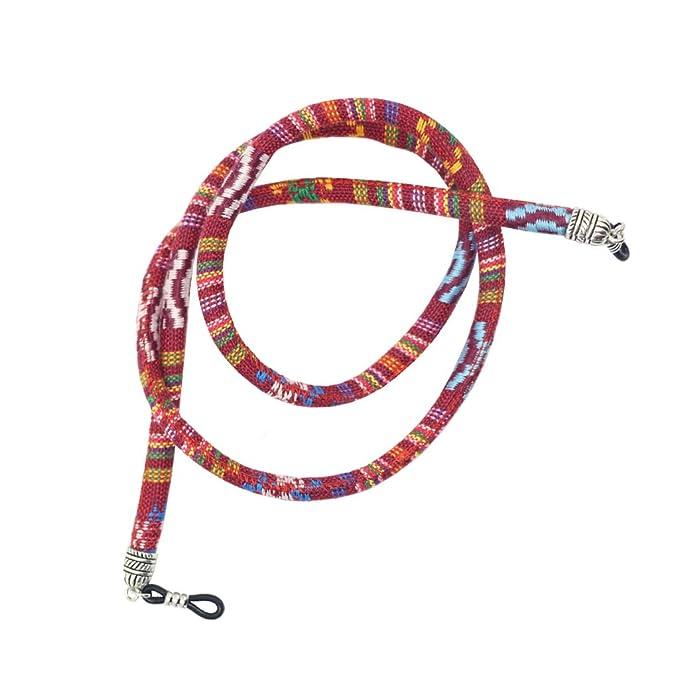 Baoblaze 4Pcs Ethnic Pattern Sunglasses Neck Cord Strap Eyeglasses String Holder 6mm