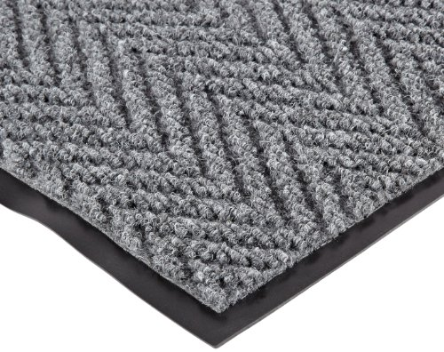 NoTrax 118 Arrow Trax Entrance Mat, for Main Entranceways and Heavy Traffic Areas, 3' Width x 5' Length x 3/8'' Thickness, Gray by NoTrax