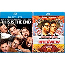 The Interview + This is the End Blu Ray Set Comedy Seth Rogan 2 Movies double feature bundle