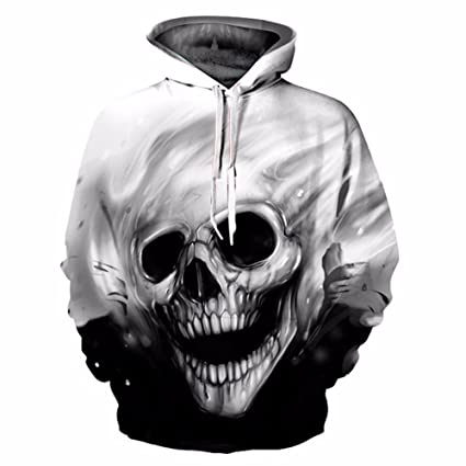 CCHD Fashion Skulls Sweatshirts Men women Thin Fashion 3d Hoodies Print Skulls T-shirt Hooded