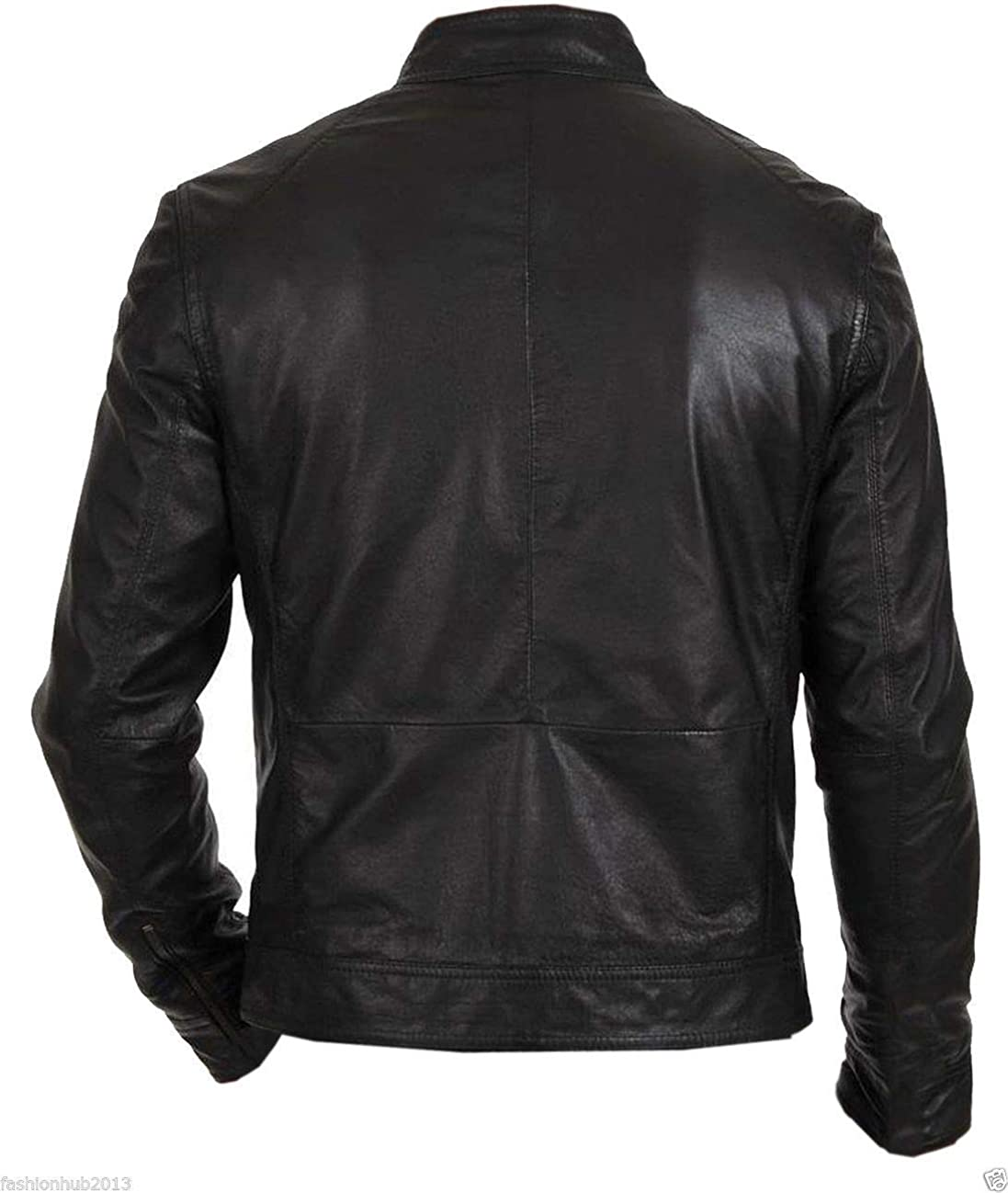 New Fashion Style Mens Leather Jackets Motorcycle Bomber Biker Black Real Leather Jacket Men