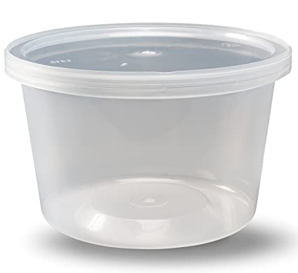 Amazoncom Deli Containers With Lids 16 Oz Leakproof Pack Of 40