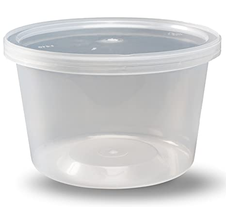 410dab131835 Deli Containers with Lids, 16 oz. Leakproof - Pack of 40 Plastic  Microwaveable Clear Food Storage Container BPA Free, Premium Quality - by  DuraHome