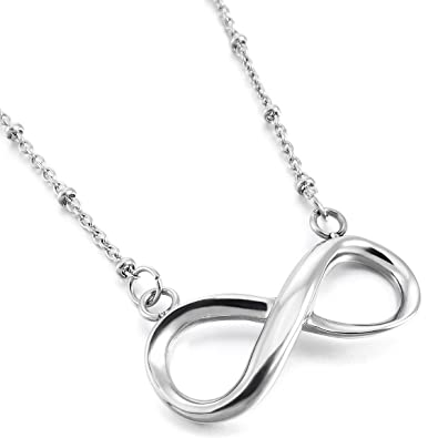 Amazon Inblue Womens Stainless Steel Pendant Necklace Silver