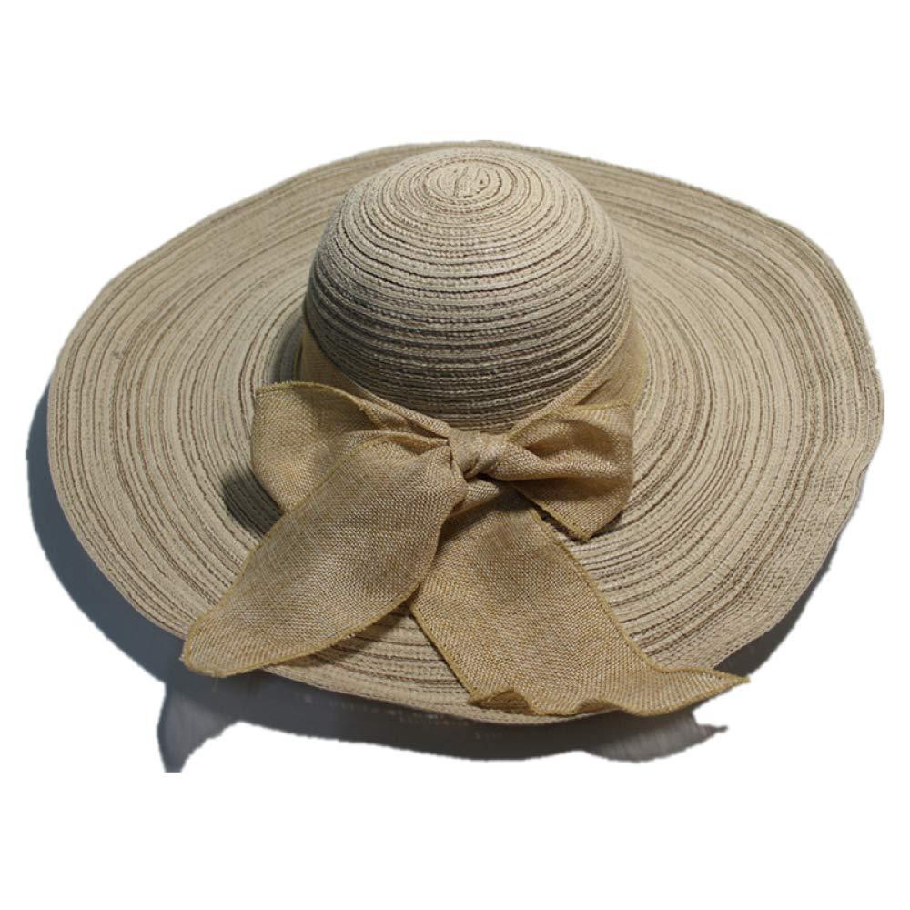 kyprx Sombrero de Borde Grande Hembra 1-6 algodón y Lino a lo ...
