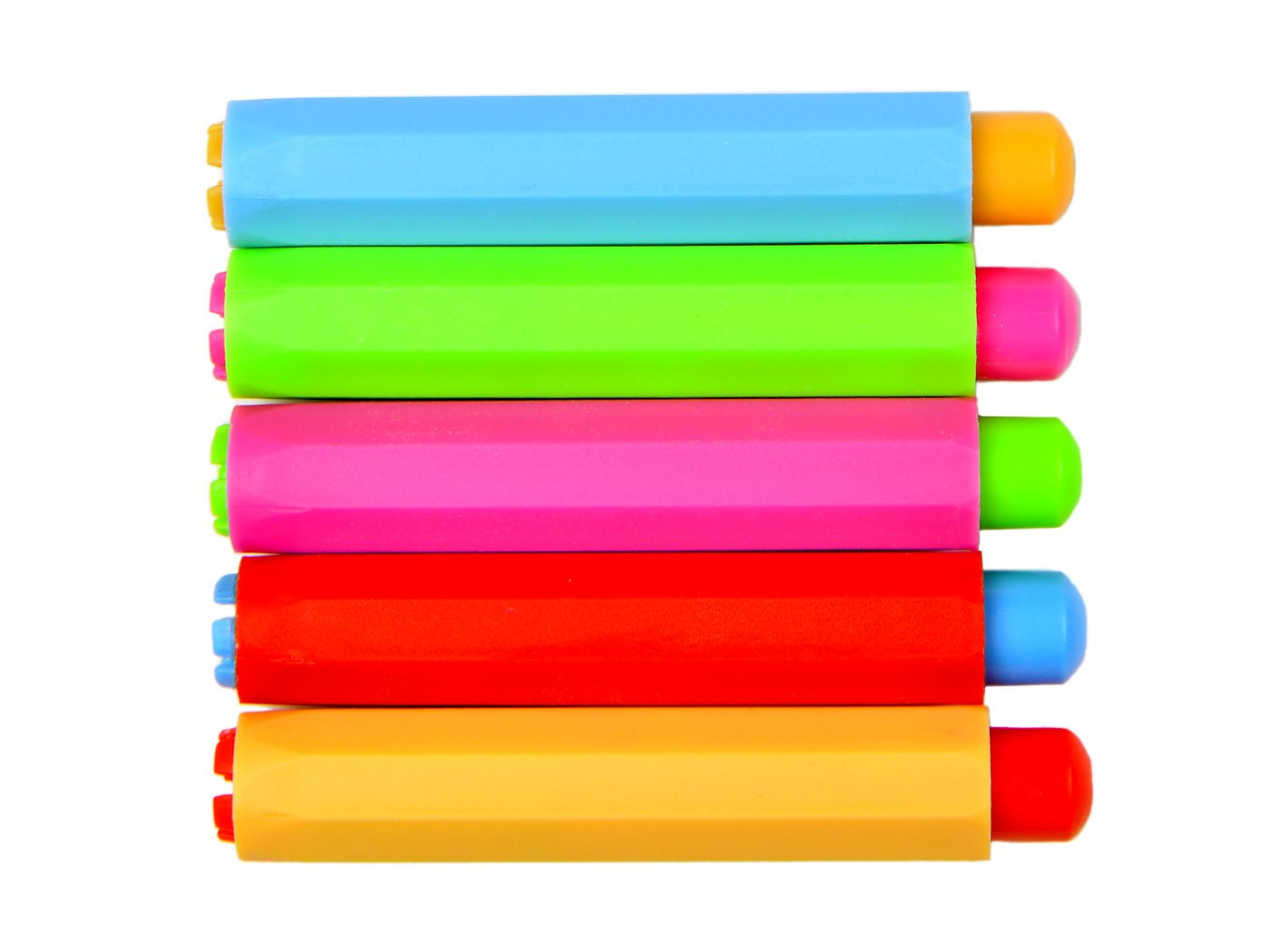 Lot de 5 réglable Craie Craie à clip pour les enseignants enfant école bureau Planche à dessin, 5 Couleur, 9,4 x 1,5 cm TADAE