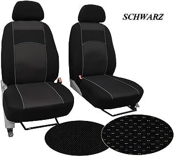 Sitzbezüge Schonbezüge SET KA Citroen Jumpy Stoff schwarz